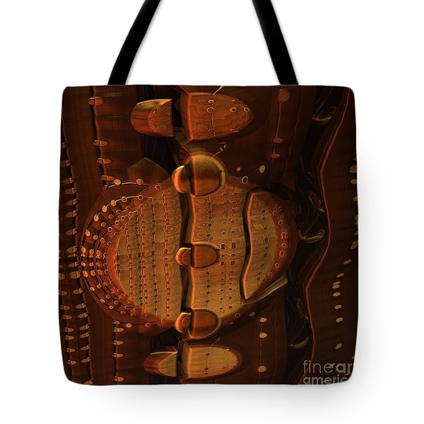 Wooden Lock Tote Bag
