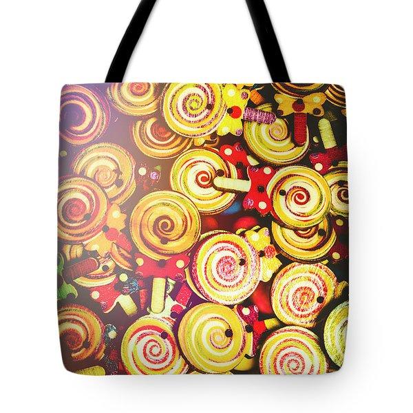 Wooden Lollipops Tote Bag