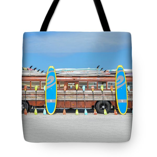 Wooden Paddle Board Bus Tote Bag