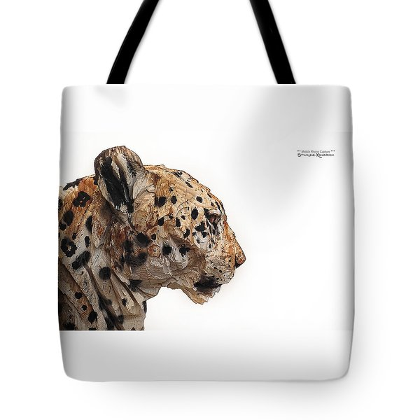 Tote Bag featuring the photograph Wooden Panther by Stwayne Keubrick