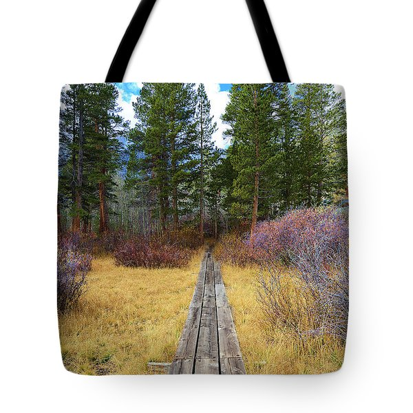 Wooden Path Tote Bag