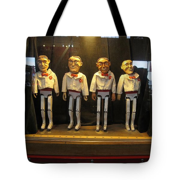 Wooden Rat Pack Tote Bag