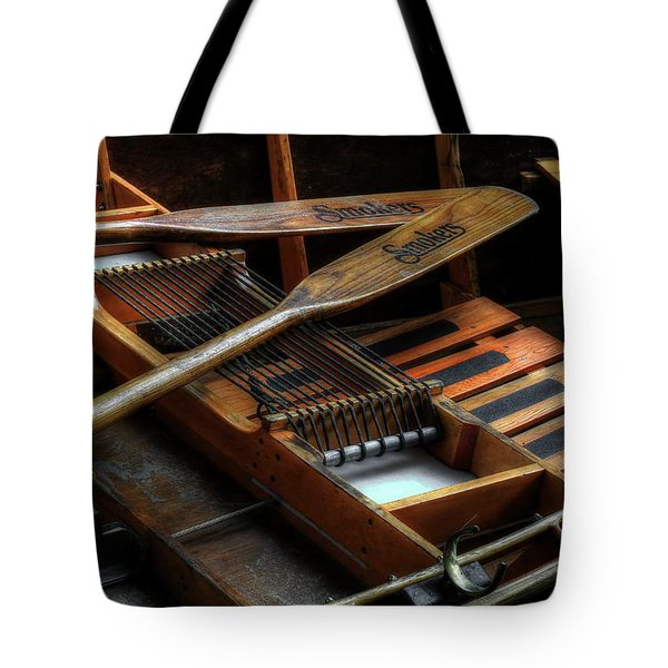 Wooden Rowboat And Oars Tote Bag