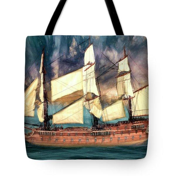 Wooden Ship Tote Bag