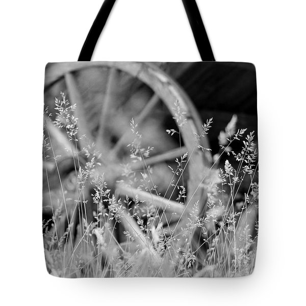 Tote Bag featuring the photograph Wooden Wagon Wheel by Beauty For God