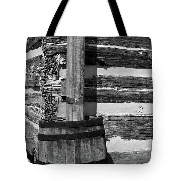 Wooden Water Barrel Tote Bag by Douglas Barnett