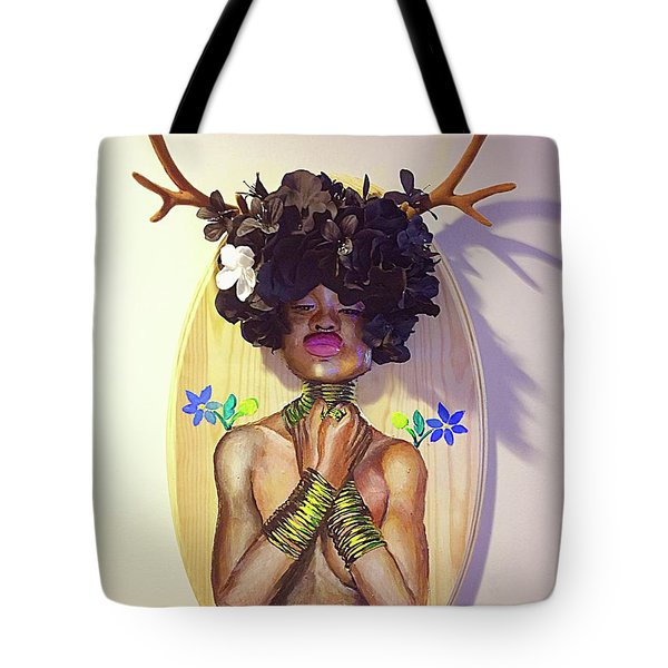 Woodgoddess Tote Bag by Baroquen Krafts