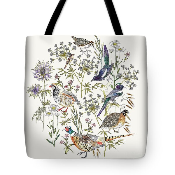 Woodland Edge Birds Placement Tote Bag by Jacqueline Colley
