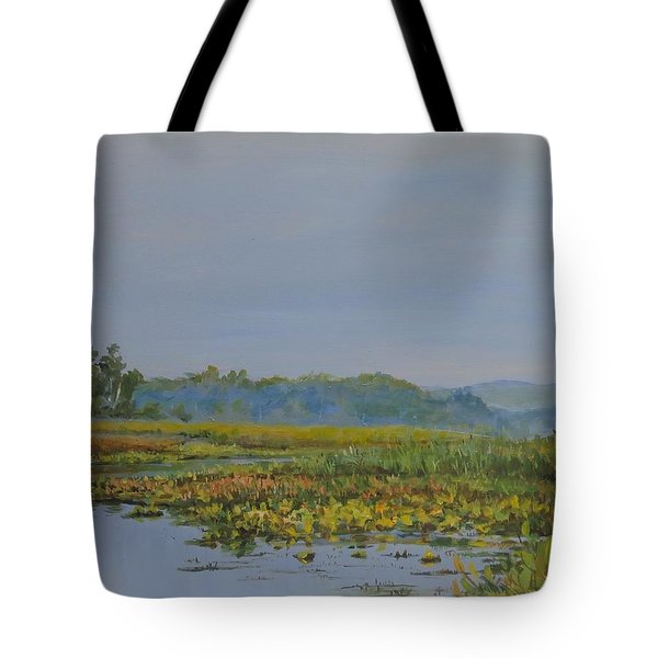 Woodland Lake Tote Bag