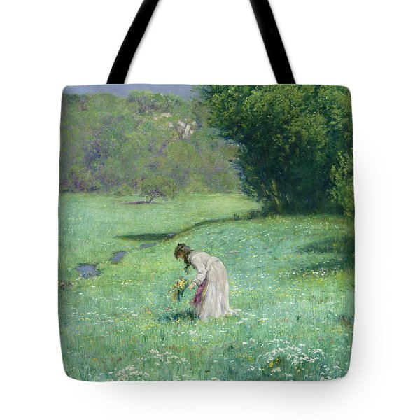Woodland Meadow Tote Bag by Hans Thoma