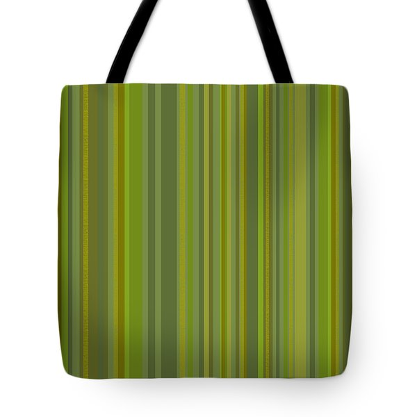 Woodland Moss - Stripes - Green Tote Bag