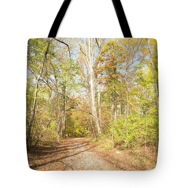 Woodland Path, Autumn, Montgomery County, Pennsylvania Tote Bag