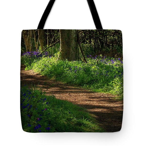 Woodland Path Lined By Bluebells Tote Bag