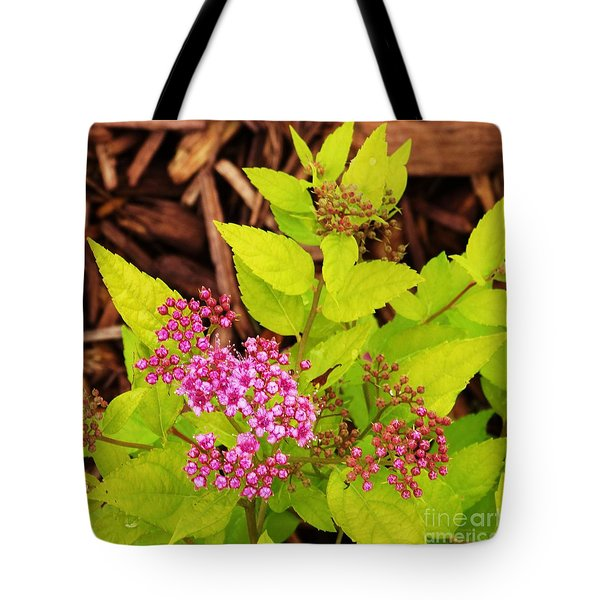 Woodland Pink Spirea Tote Bag by J L Zarek
