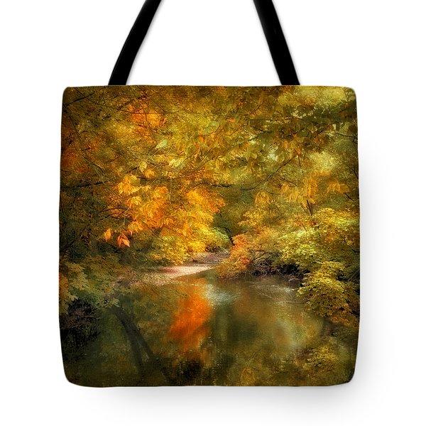Woodland River Lights Tote Bag