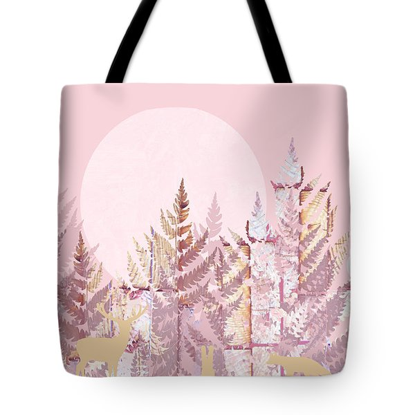 Woodland Scenic In Pink Dedicated To Hrh Princess Charlotte Tote Bag