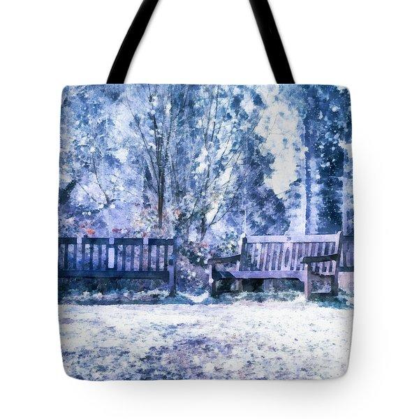 Woodland Snow  Tote Bag