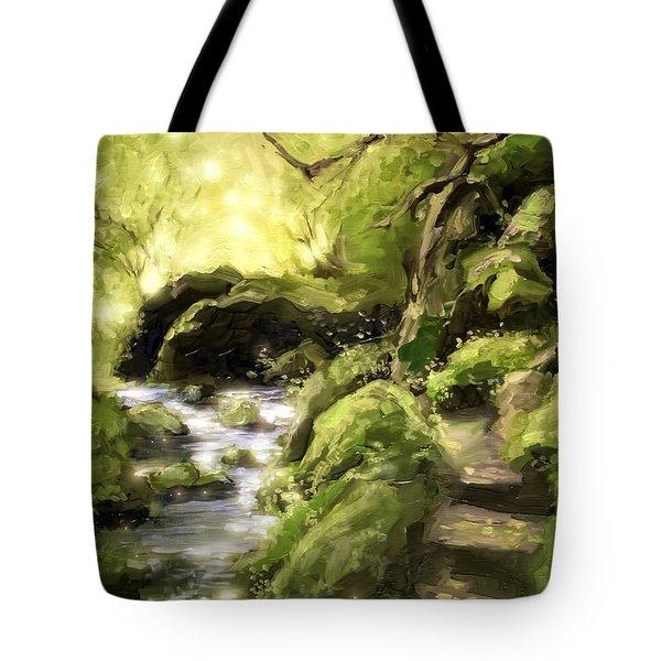 Woodland Steps Tote Bag