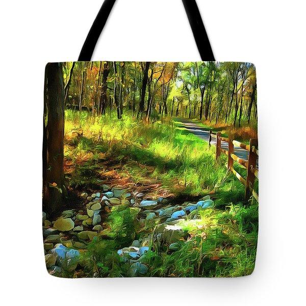 Woodland Symphony Tote Bag by Cedric Hampton