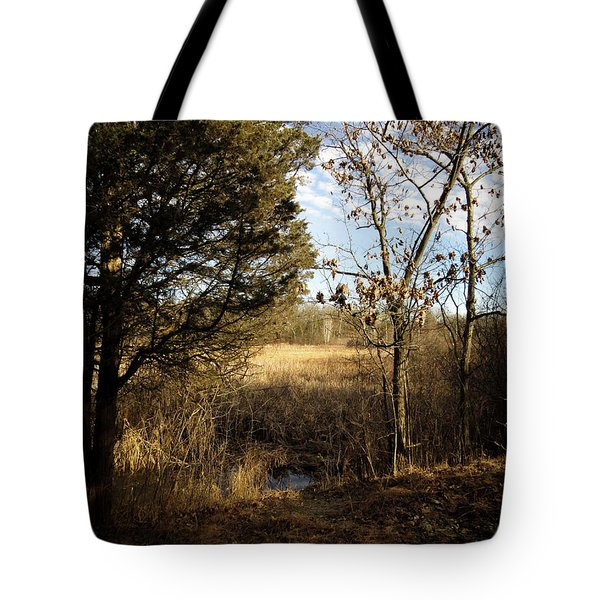 Tote Bag featuring the photograph Woodland View  by Kimberly Mackowski