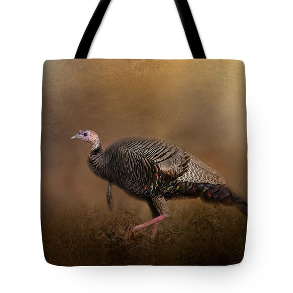 Woodland Walk - Wild Turkey Art Tote Bag by Jai Johnson