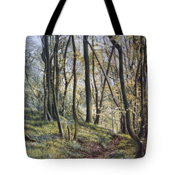 Tote Bag featuring the painting Woodland Wanderings by Rosemary Colyer