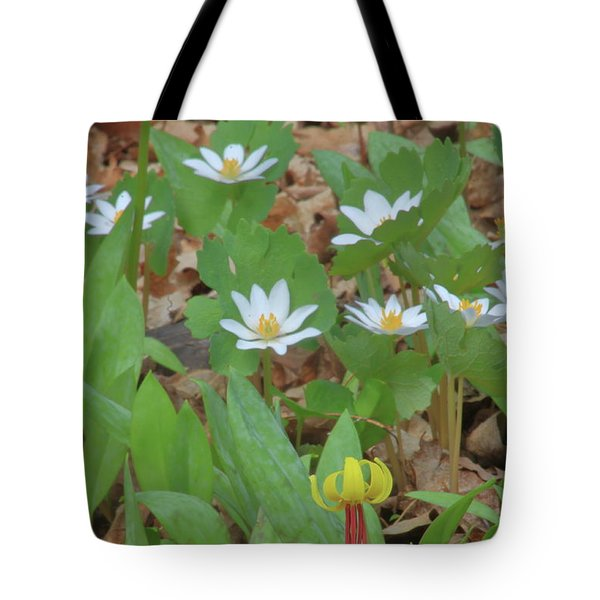 Woodland Wildflowers Tote Bag by John Burk