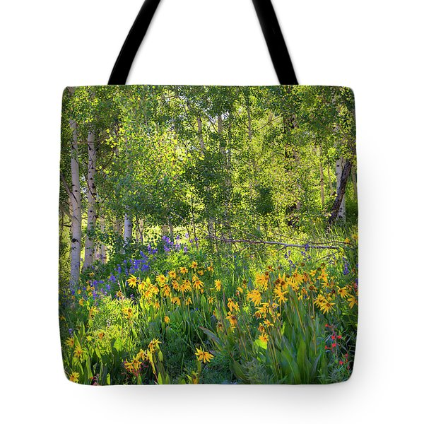 Tote Bag featuring the photograph Woodland Wildflowers by Tim Reaves