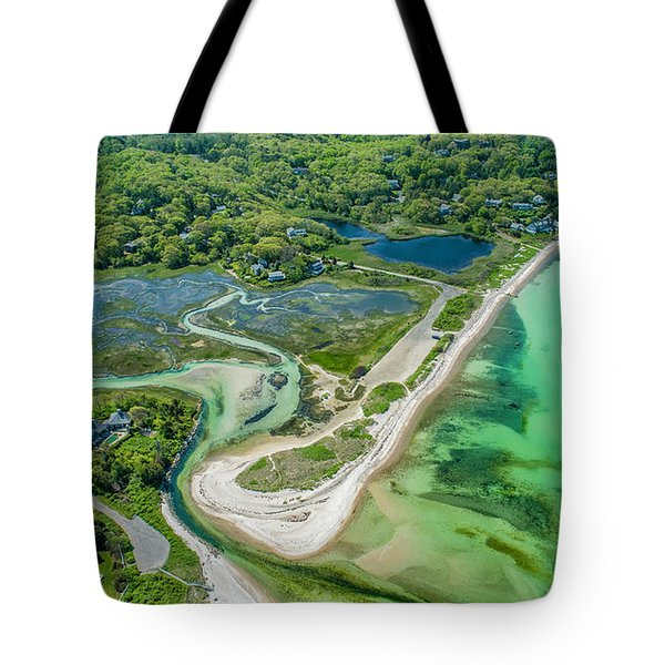 Woodneck Beach At 400 Feet Tote Bag