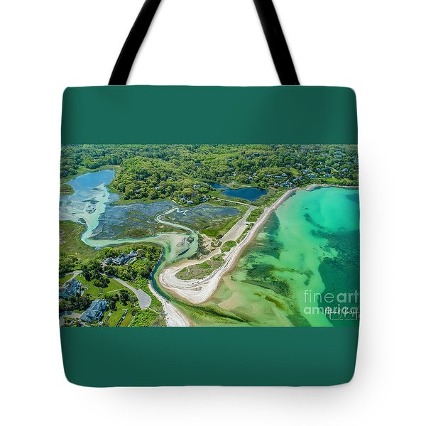 Woodneck Beach At 400 Feet Tote Bag