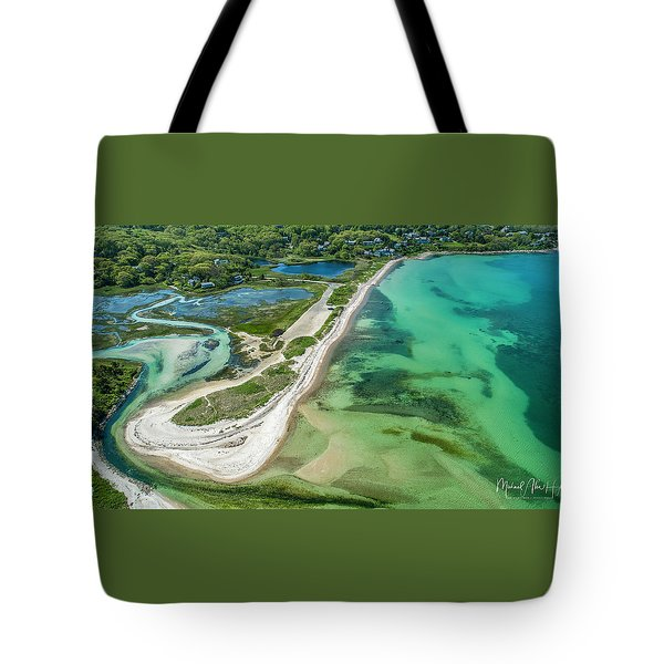 Tote Bag featuring the photograph Woodneck Beach by Michael Hughes