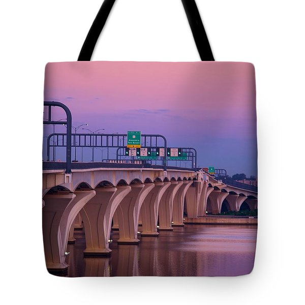 Woodrow Wilson Bridge Tote Bag