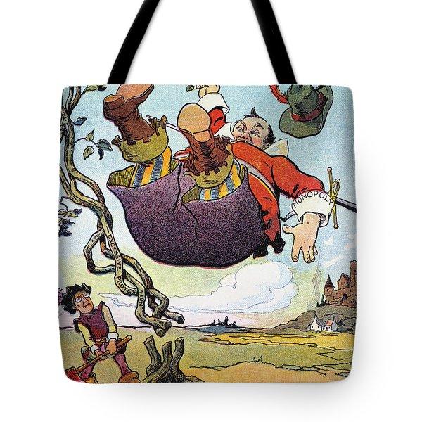 Woodrow Wilson Cartoon Tote Bag by Granger