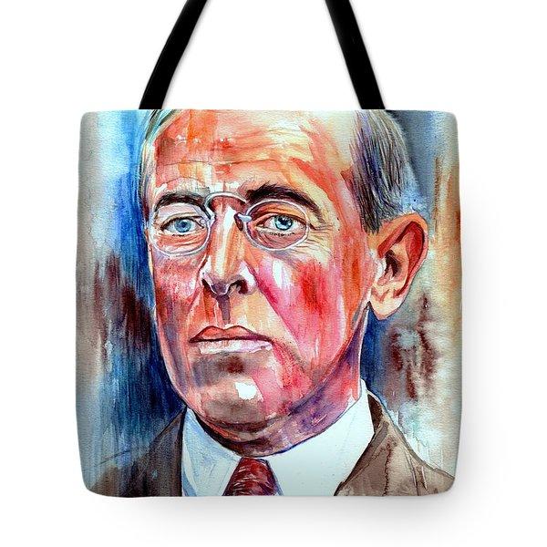 Woodrow Wilson Painting Tote Bag