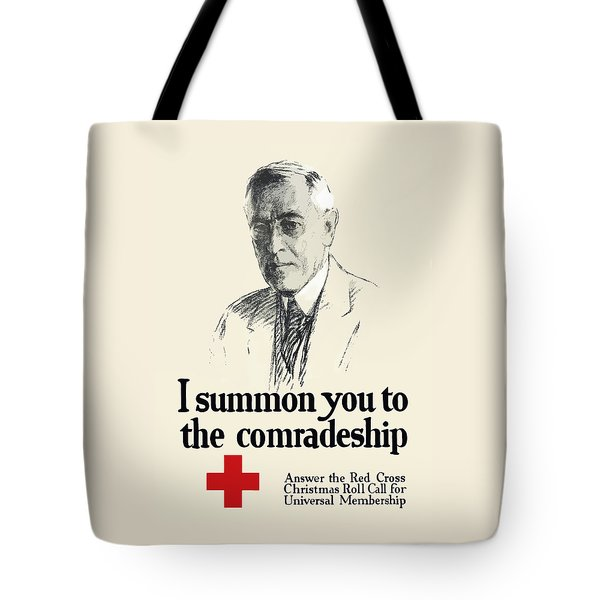Woodrow Wison Red Cross Roll Call Tote Bag