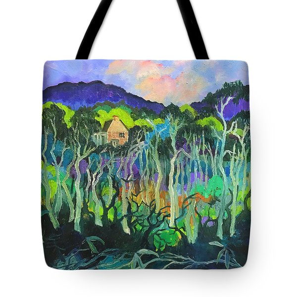 Woods And Shadows Tote Bag