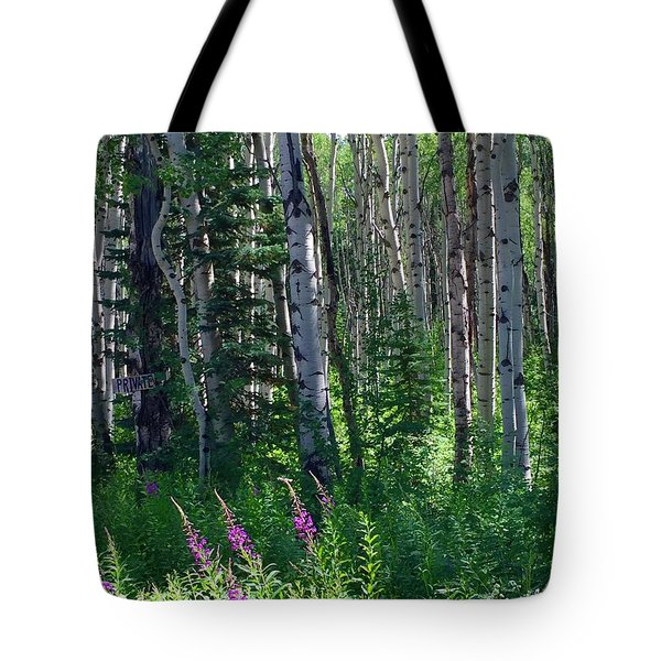 Woods Tote Bag by Beth Saffer