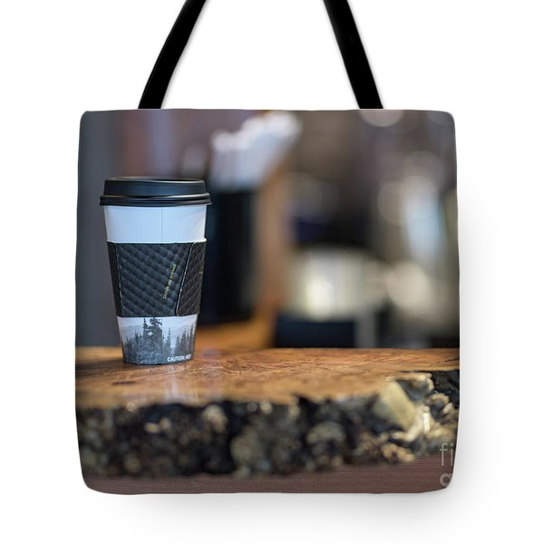 Tote Bag featuring the photograph Woods Coffee by Jim  Hatch