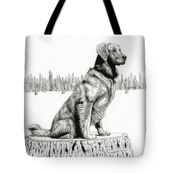 Woods Dog Tote Bag