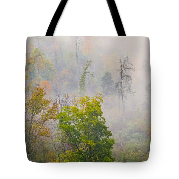 Tote Bag featuring the photograph Woods From Afar by Wanda Krack