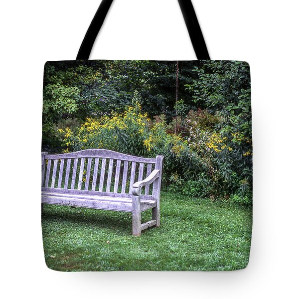 Woodstock Bench Tote Bag