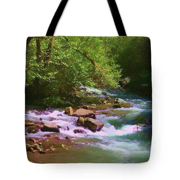 Woodsy River Tote Bag