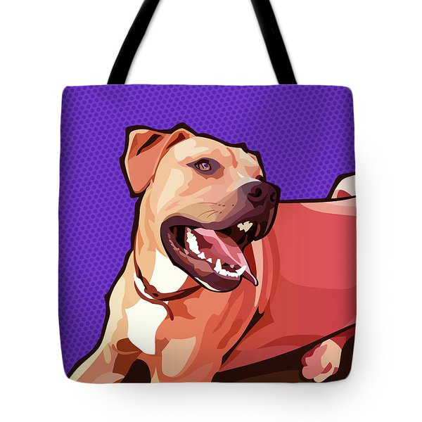 Woof - Purple Tote Bag