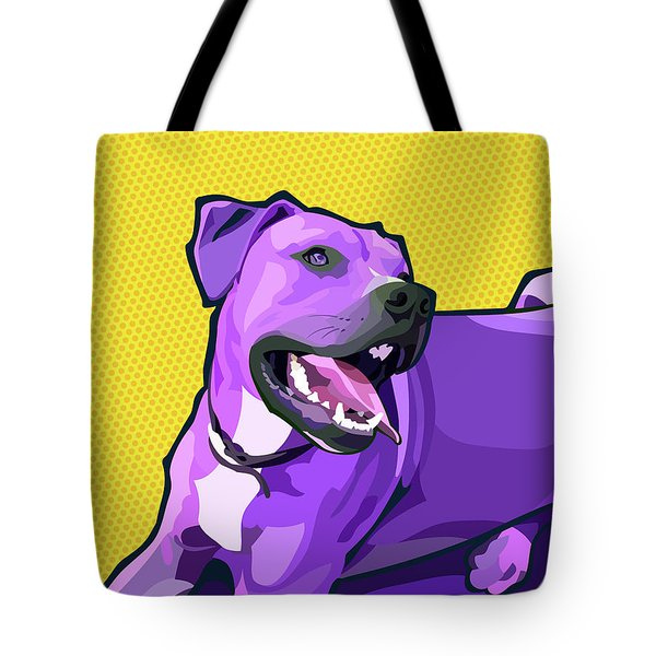 Woof - Yellow Tote Bag