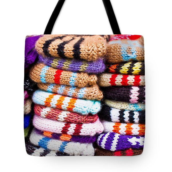 Wool Socks Tote Bag