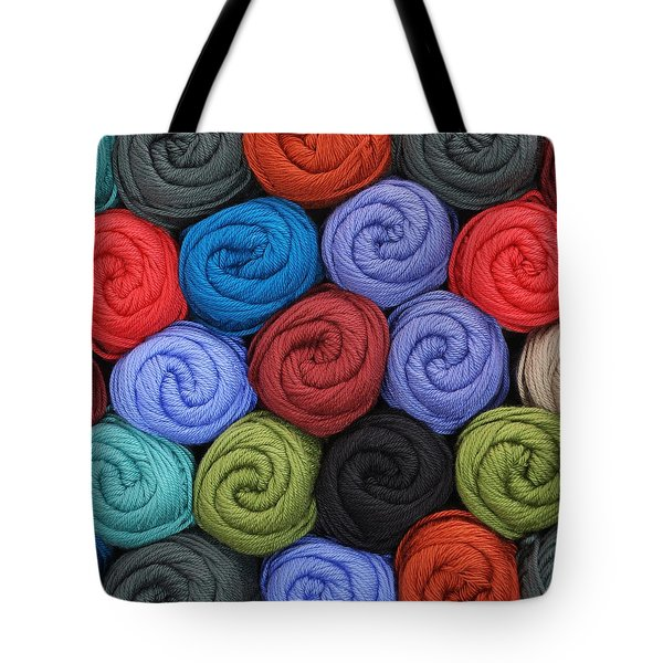 Wool Yarn Skeins Tote Bag
