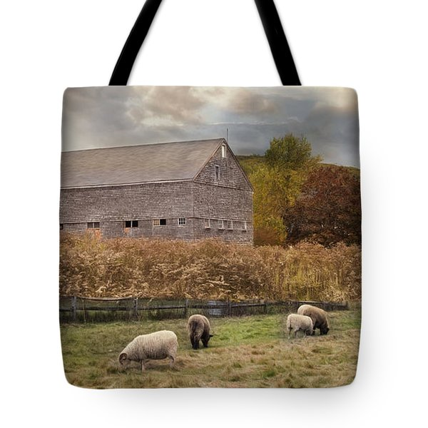 Tote Bag featuring the photograph Woolen Fields by Robin-Lee Vieira