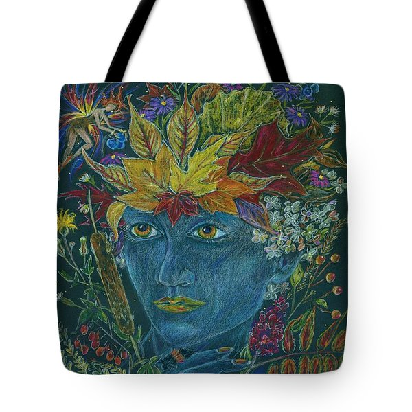 Tote Bag featuring the drawing Woolly Bear Caterpillar by Dawn Fairies