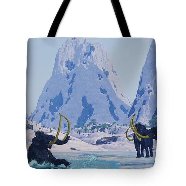 Woolly Mammoth In Danger Tote Bag