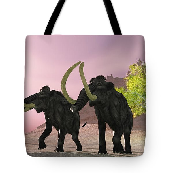 Woolly Mammoth Morning Tote Bag